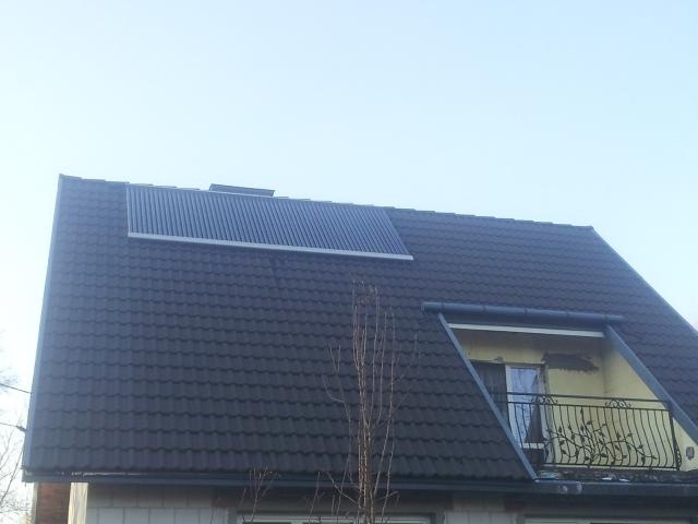 Kolektory słoneczne próżniowe Depsol DS - montaż na dachówce