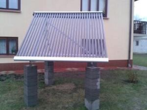 kolektory prózniowe depsol ds 30 na konstrukcji wolnostorącej/ ogrodowej