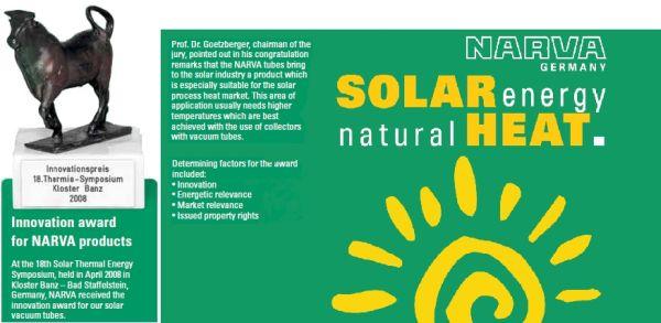 rury prózniowe narva nagroda za innowacje - solary depsol