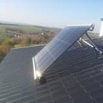 Kolektor próżniowy ds montaż konstrukcja na dachu